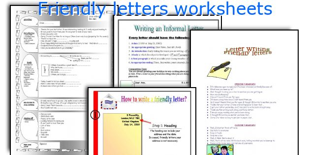 Friendly Letter Format Generator. How to write a friendly letter for kids  Homework Academic