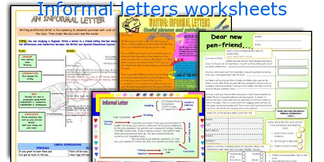 Informal Letters Worksheets