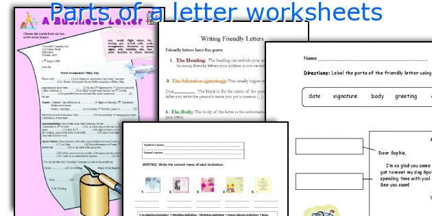 English teaching worksheets parts of a letter parts of a letter worksheets stopboris Images